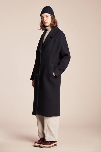 Void Wool Coat Ink