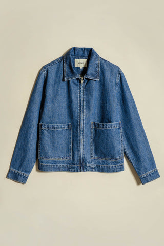 Reserve Denim Jacket Mid-Wash Indigo Denim