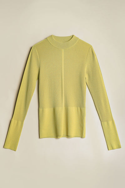 Blend Mock Neck Knit Wasabi