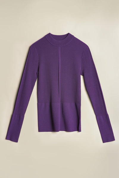 Blend Mock Neck Knit Dahalia