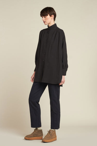 Sierra Smock Shirt Black