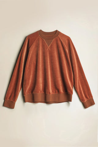 Remote Velour Sweater Rust