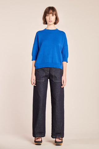 Breach Knit Top Ultramarine