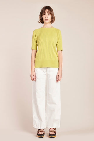 Chimera Knit Top Chartreuse