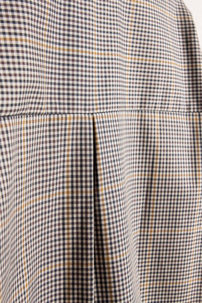 Flux LS Shirt Ink / Mustard Check