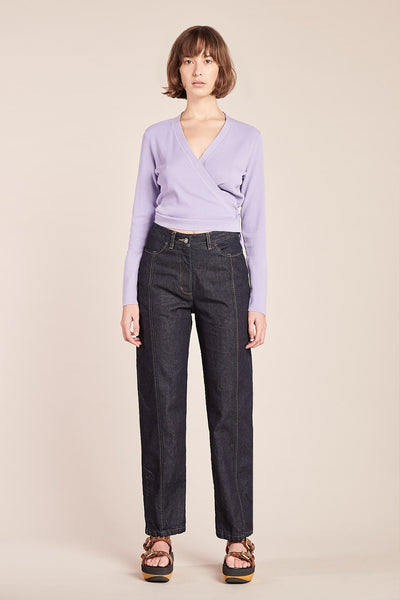Gem Wrap Tie Top Lilac
