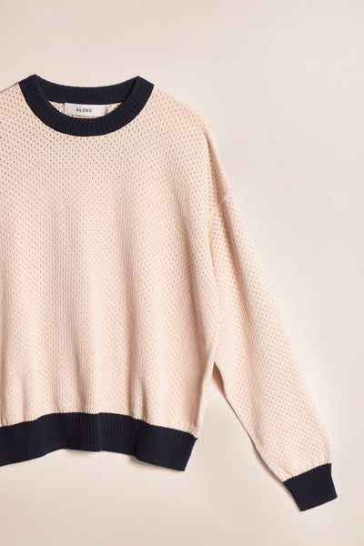 Hi Way Knit Sweater Ecru
