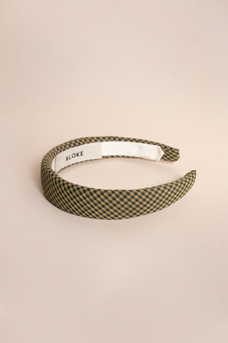 Hi Vista Headband Green / Mustard Check