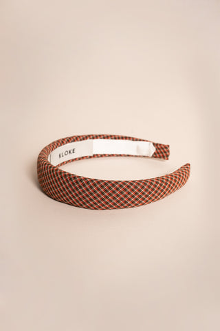 Hi Vista Headband Red / Brown Check