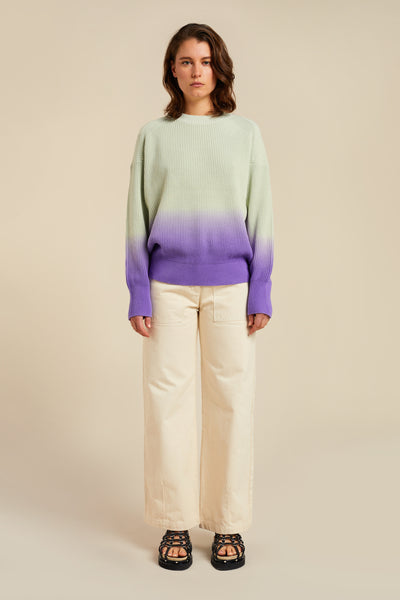 Akos Ombre Sweater Mint with Dahlia