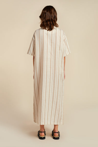 Alelo Dress Ecru Stripe