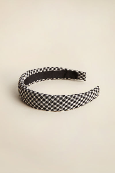 Hi Vista Headband Black & White Minicheck