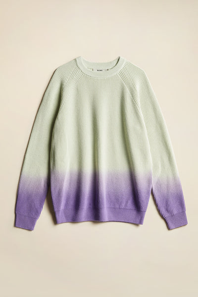 Fade Ombre Sweater Dahlia with Mint