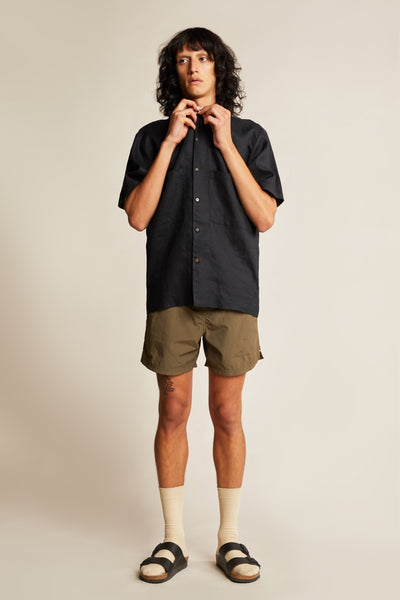 Juncture S/S Linen Shirt Black