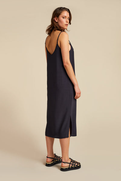 Crescent Slip Dress Ink