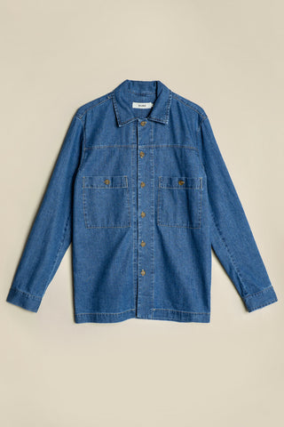 Peak Work Shirt Mid-Wash Denim