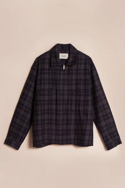 Receiver Zip Up Jacket Charcoal Check