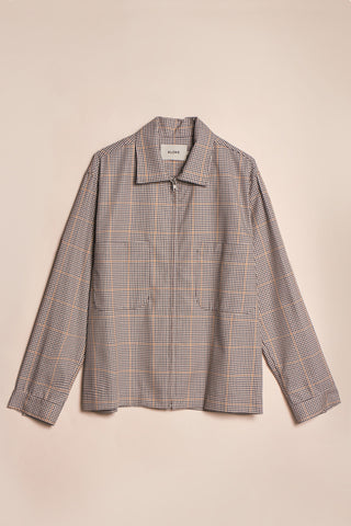 Receiver Zip Up Jacket Tattersall Check