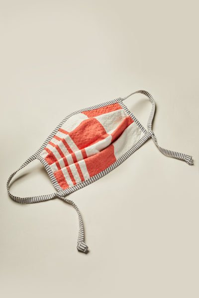 Pleat Face Mask Panacea Red Print