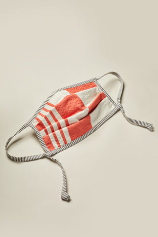 Reversible Pleat Face Mask Panacea Red Print