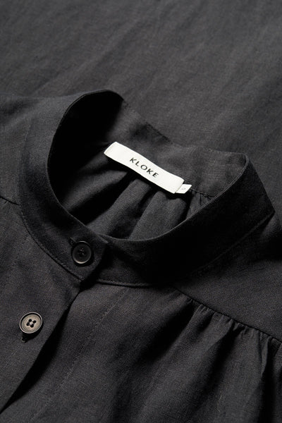Epione Gathered Shirt Black