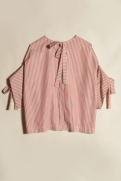 Jacques Tie Top Brick Stripe