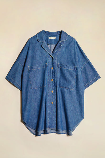 Panacea Oversized Shirt Mid-Wash Denim