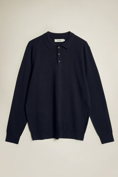 Affinity Collared Pullover Neat Navy