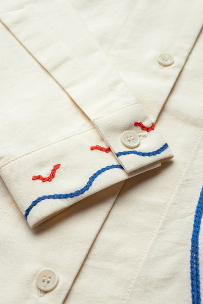 Visage Embroidered Shirt Ecru