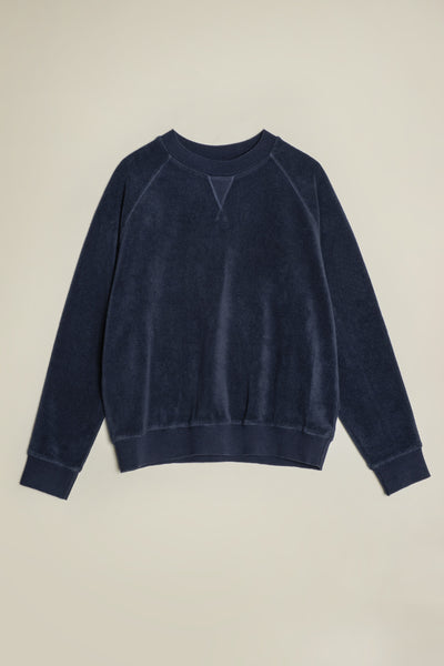 Hero Towelling Sweater Ink Navy