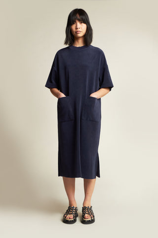 Engulf Towelling Dress Ink Navy