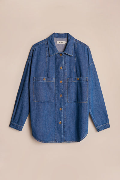 Sway Painters Shirt Midwash Indigo Denim