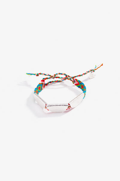 Trippy Taco Friendship Band Silver