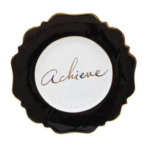 Black 'Achieve' Side Plate