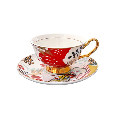 Butterfly Teacup & Saucer - 250mL