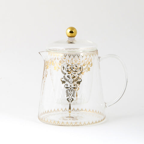 Glass Teapot with Moroccan Design - 800mL
