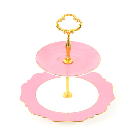 Pale Pink High Tea Stand