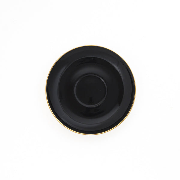 Black Teacup & Saucer - 250mL