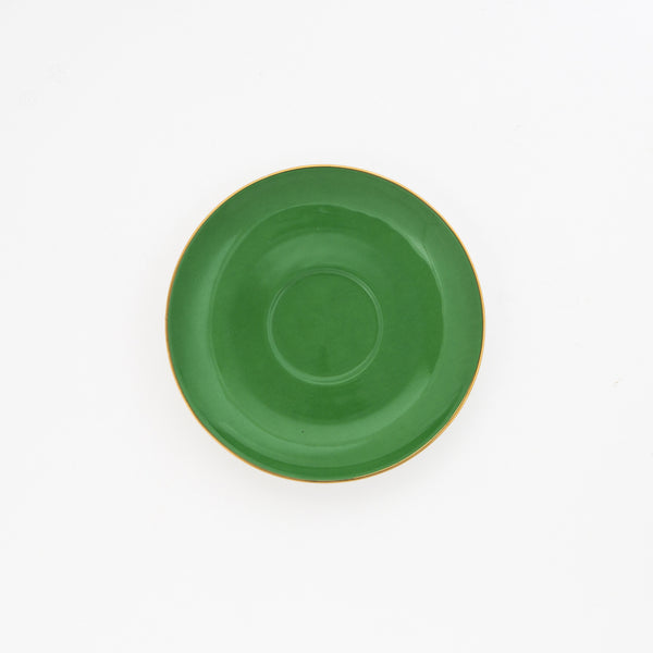 Green Teacup & Saucer - 250mL