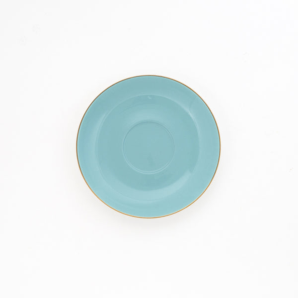 Pale Blue Teacup & Saucer - 250mL