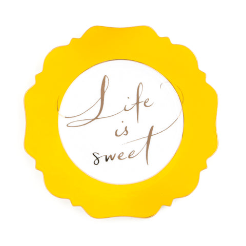 Yellow Life is Sweet Side Plate