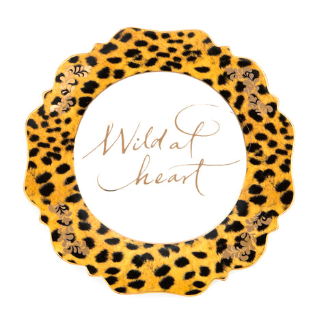 Leopard Print Wild at Heart Side Plate