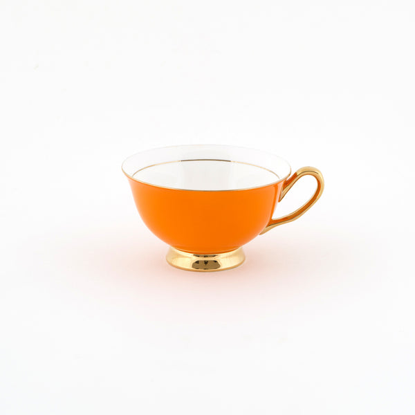 Orange Teacup & Saucer - 250mL