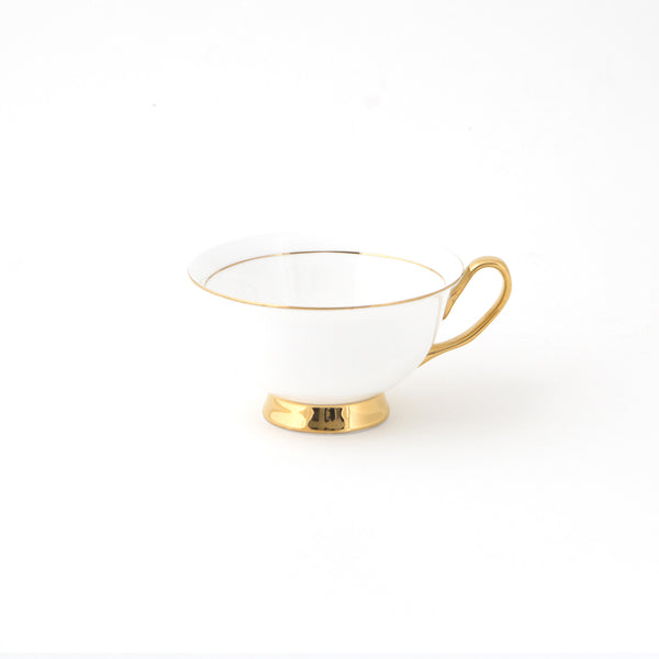 White Teacup & Saucer - 250mL