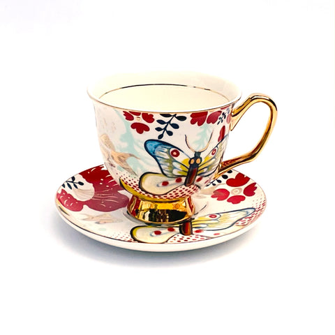 Butterfly Teacup & Saucer XL - 375mL