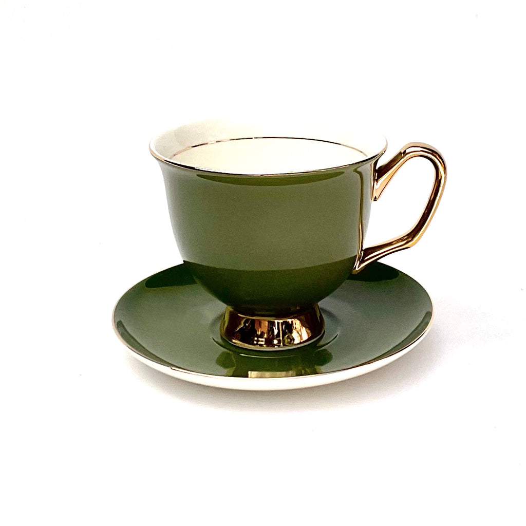 Moss Green Teacup & Saucer XL - 375mL
