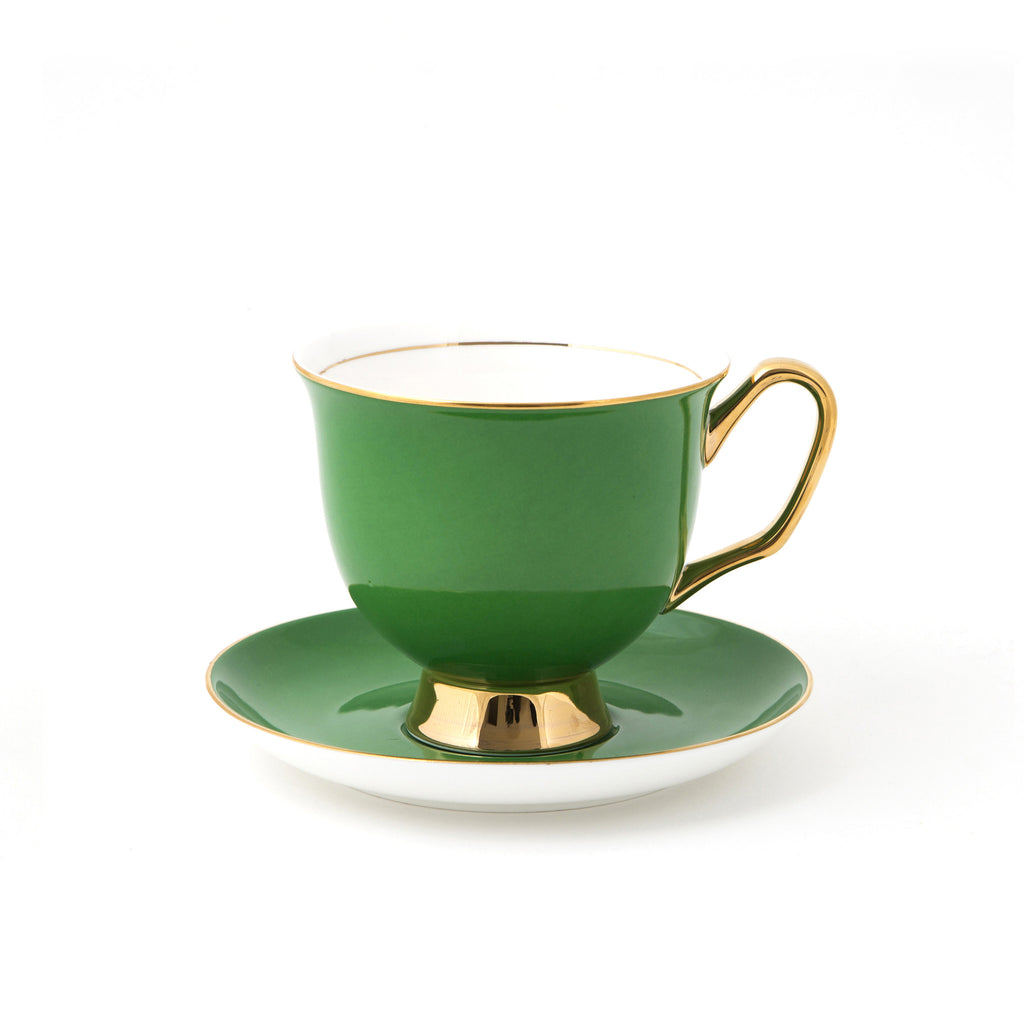 Green Teacup & Saucer XL - 375mL