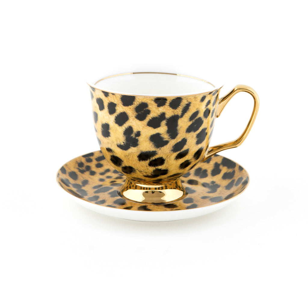 Leopard Print Teacup & Saucer XL - 375mL