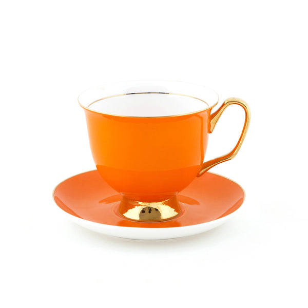 Orange Teacup & Saucer XL - 375mL