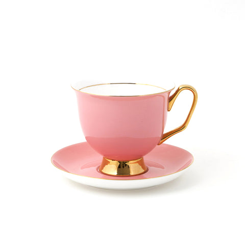 Pale Pink Teacup & Saucer XL - 375mL